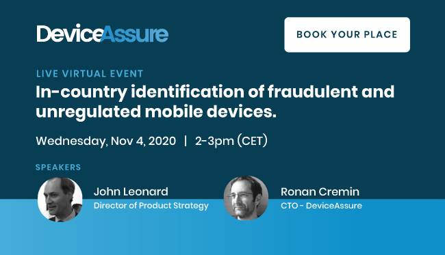 In-country Identification of Fraudulent and Unregulated Mobile Devices DeviceAssure Image